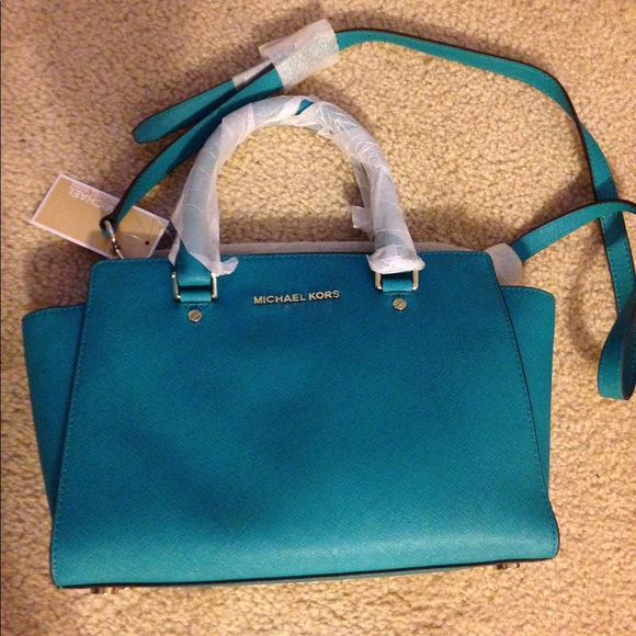 e448ef99d0d0 Michael Kors Selma medium satchel in Tile Blue
